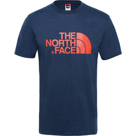 The North Face Easy T-shirt Heren, urban navy/fiery red